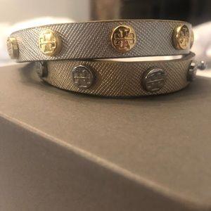 Tory Burch silver/gold wrap bracelet